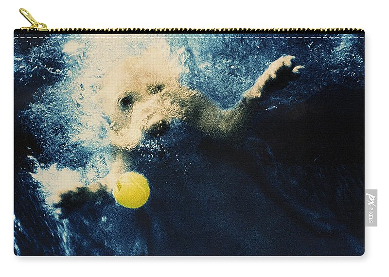Dog Carry-all Pouch featuring the photograph Splashdown by Jill Reger