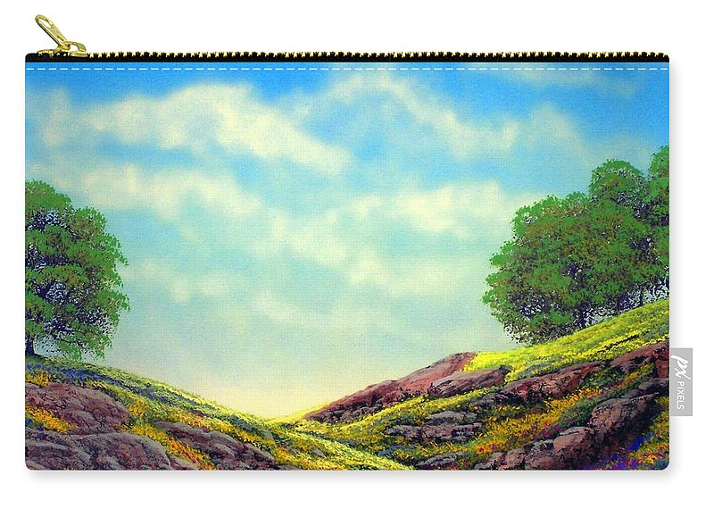 Landscape Carry-all Pouch featuring the painting Spring Day by Frank Wilson