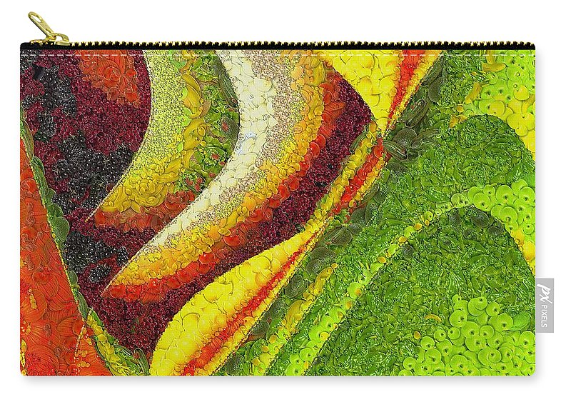 Spring Carry-all Pouch featuring the painting Spring by Dragica Micki Fortuna