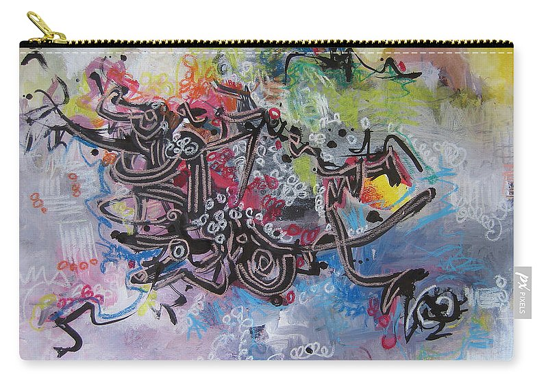 Abstract Painting Carry-all Pouch featuring the painting Spring Fever8 by Seon-Jeong Kim