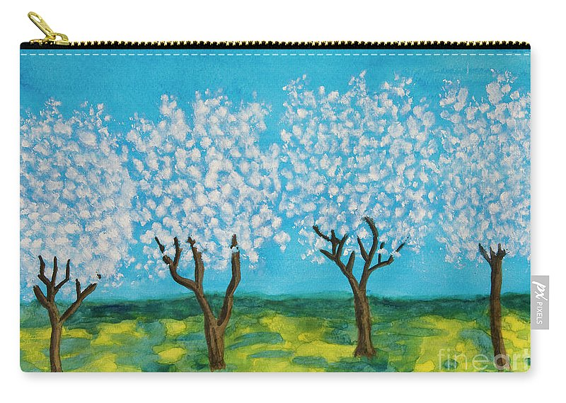 Art Carry-all Pouch featuring the painting Spring Garden, Painting by Irina Afonskaya
