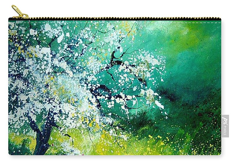 Flowers Carry-all Pouch featuring the painting Spring by Pol Ledent