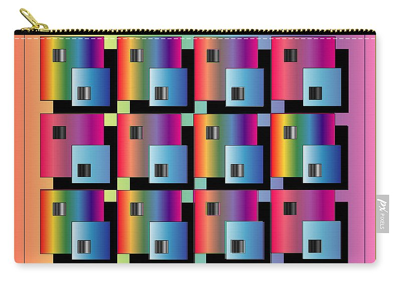 Abstract Carry-all Pouch featuring the digital art Squares by George Pasini