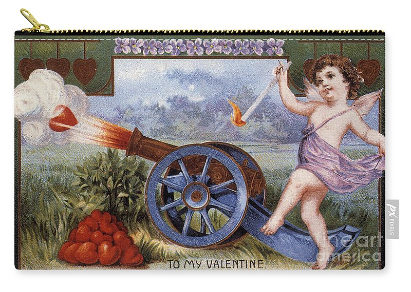 1915 Carry-all Pouch featuring the photograph St. Valentines Day Card by Granger