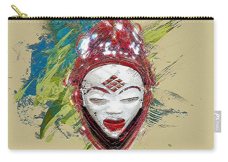 Star Spirits By Serge Averbukh Carry-all Pouch featuring the photograph Star Spirits - Maiden Spirit Mukudji by Serge Averbukh