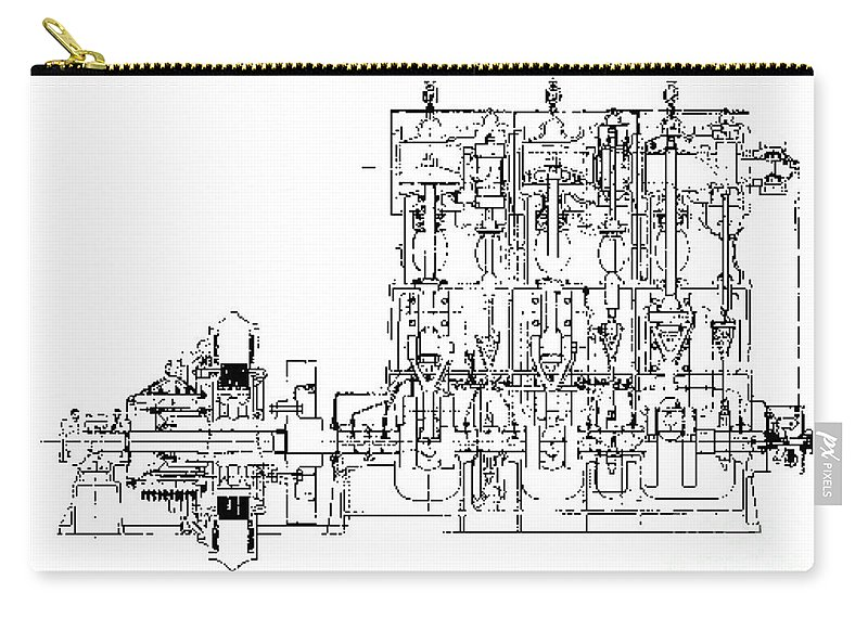 Steam Engine Diagram  Titanic  1911 Carry