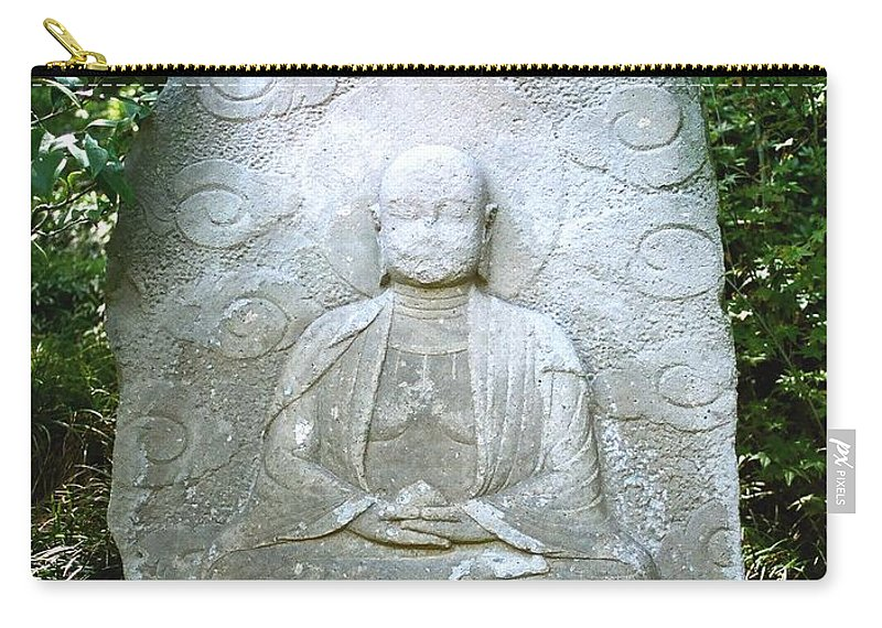 Stone Carry-all Pouch featuring the photograph Stone Buddha by Dean Triolo