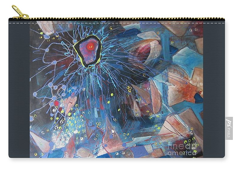 Abstract Paintings Carry-all Pouch featuring the painting Storm At Sea by Seon-Jeong Kim