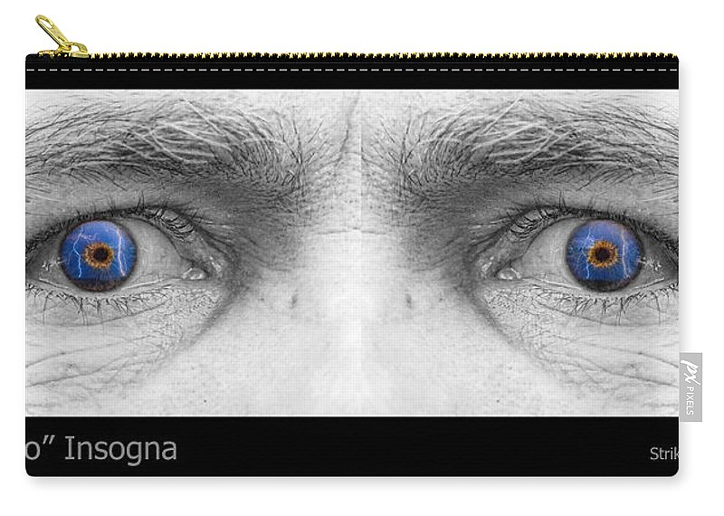 Eyes Carry-all Pouch featuring the photograph Stormy Angry Eyes by James BO Insogna