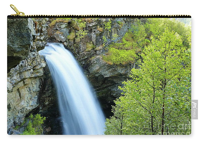 Storsaeterfossen Carry-all Pouch featuring the photograph Storsaeterfossen by Arild Lilleboe