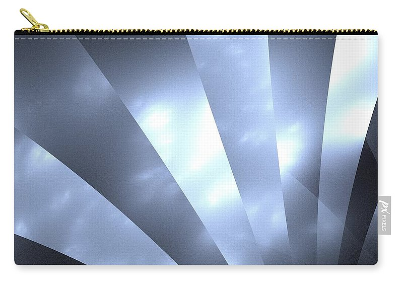 Stripes Carry-all Pouch featuring the painting Stripes And Sky by Steve K