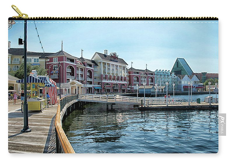 Boardwalk Carry-all Pouch featuring the photograph Strolling On The Boardwalk At Disney World MP by Thomas Woolworth