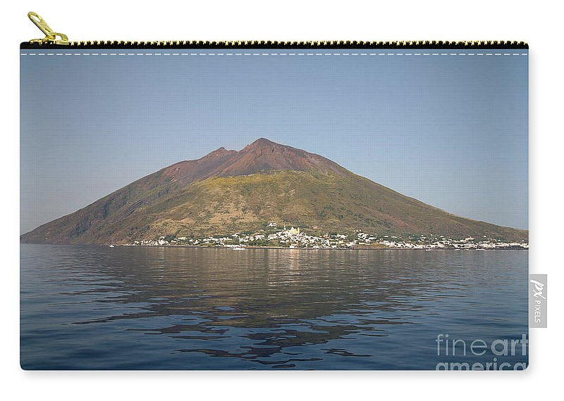 No People Carry-all Pouch featuring the photograph Stromboli Volcano, Aeolian Islands by Richard Roscoe