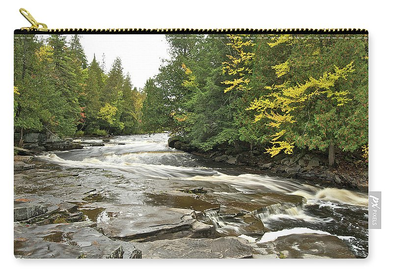 Michigan Carry-all Pouch featuring the photograph Sturgeon River by Michael Peychich