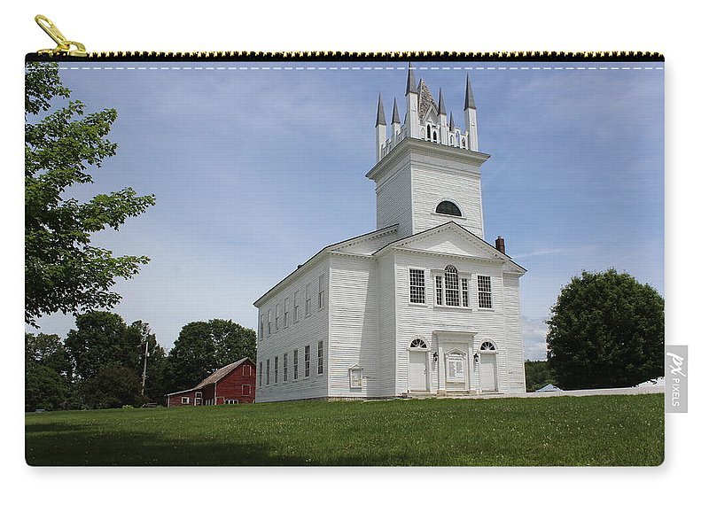 Church Carry-all Pouch featuring the photograph Sudbury Congregational Church by Dominic Labbe