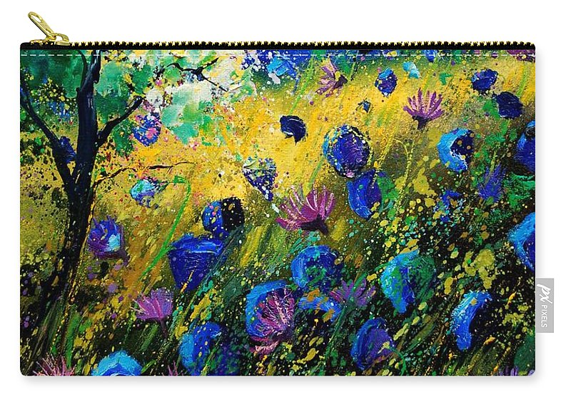 Poppies Carry-all Pouch featuring the painting Summer 450208 by Pol Ledent