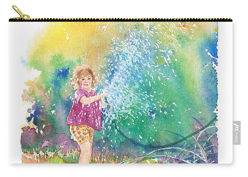 Children Carry-all Pouch featuring the painting Summer Fun by Gale Cochran-Smith
