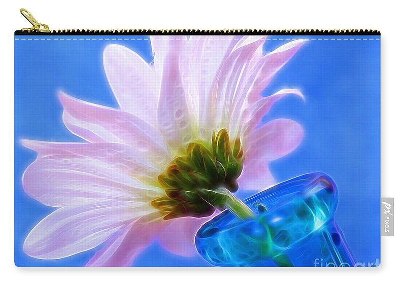 Daisy Carry-all Pouch featuring the photograph Summer Love by Krissy Katsimbras