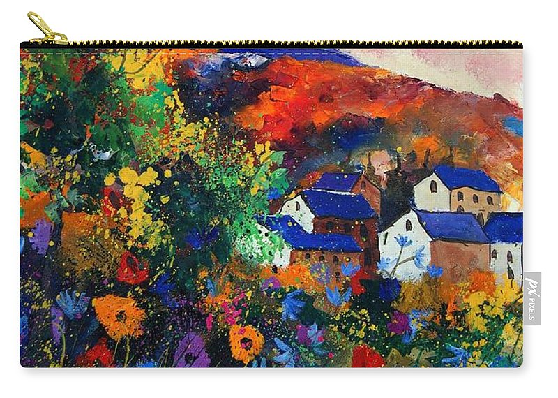 Landscape Carry-all Pouch featuring the painting Summer by Pol Ledent
