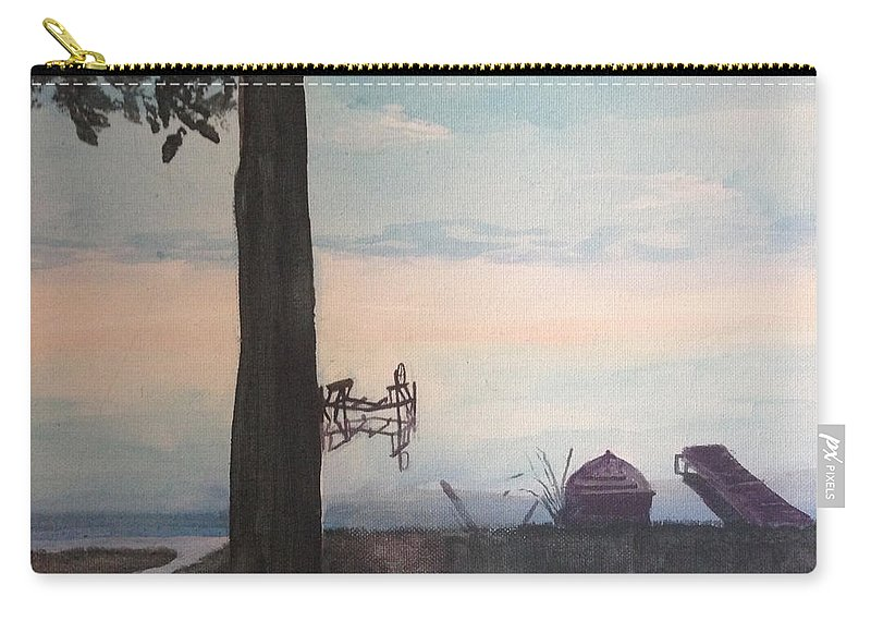 Lake Carry-all Pouch featuring the painting Summers End by Victoria C Clarke