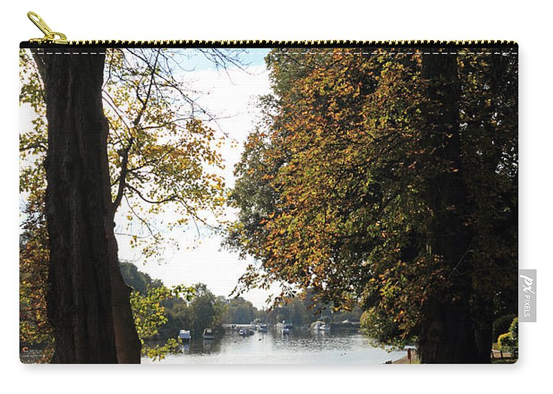 Autumn Colours At Sunbury On Thames Surrey Uk Carry-all Pouch featuring the photograph Sunbury On Thames Surrey Uk by Julia Gavin