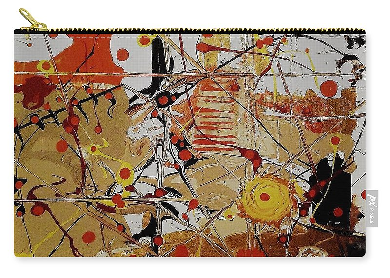 Abstract Carry-all Pouch featuring the painting Sundown by Charlotte Nunn