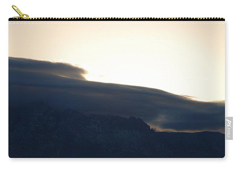 Sunrise Carry-all Pouch featuring the photograph Sunrise Over The Sandias by Rob Hans