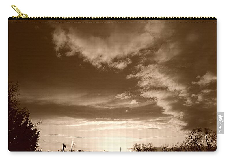 Sunset Carry-all Pouch featuring the photograph Sunset And Clouds by Rob Hans