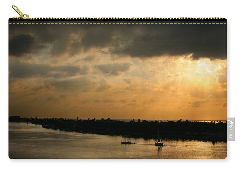Photograph Carry-all Pouch featuring the photograph Sunset At Pass A Grille Florida by Mal Bray