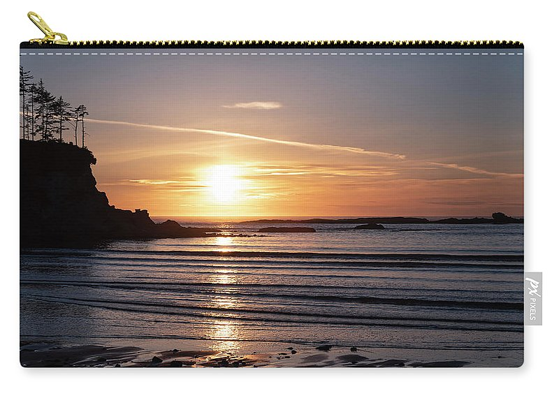 Beach Carry-all Pouch featuring the photograph Sunset Bay Moments by Steven Clark