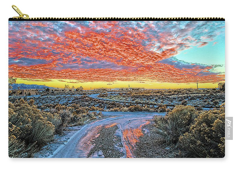 Sunset Carry-all Pouch featuring the photograph Sunset In El Prado by Charles Muhle