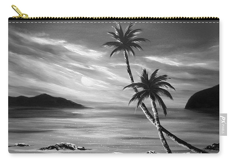 Sunset Carry-all Pouch featuring the painting Sunset In Paradise by Gina De Gorna
