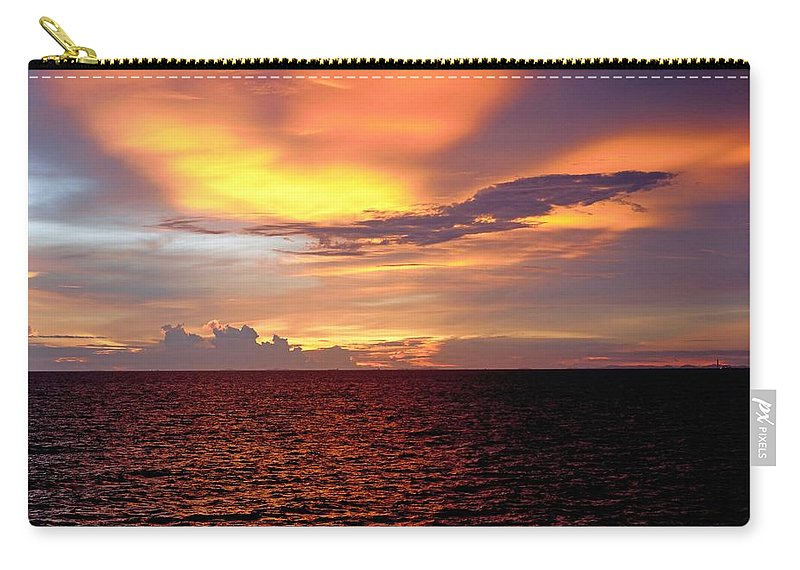 Sunset Carry-all Pouch featuring the photograph Sunset by Michael Brown