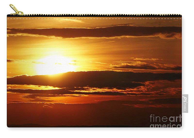 Sunset Carry-all Pouch featuring the photograph Sunset by Michal Boubin