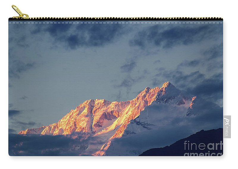 Alpine Carry-all Pouch featuring the photograph Sunset On Mount Kanchenjugha At Dusk Sikkim by Rudra Narayan Mitra