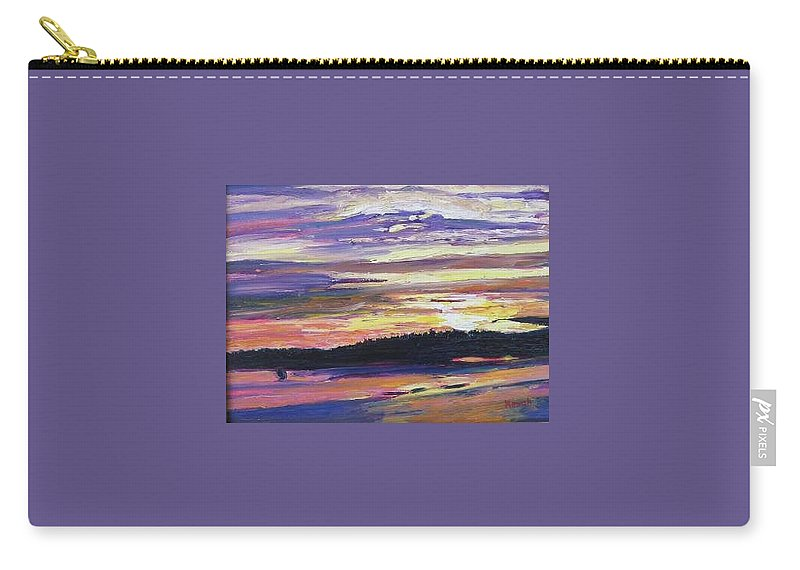 Sunset Carry-all Pouch featuring the painting Sunset by Richard Nowak