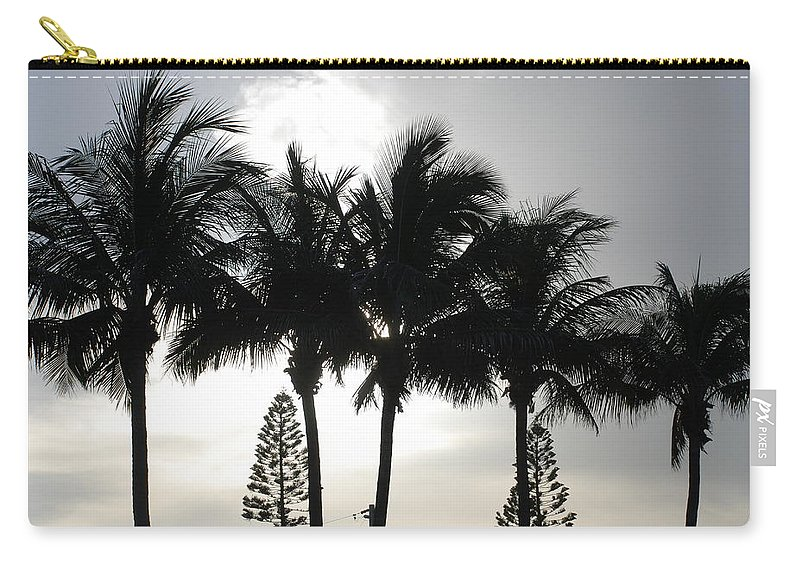 Sky Carry-all Pouch featuring the photograph Sunset Thru The Trees by Rob Hans