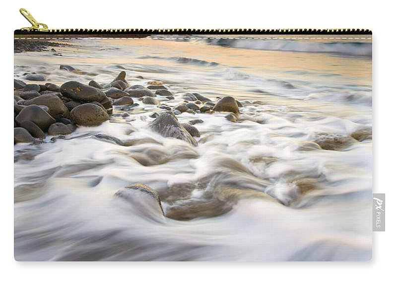 Beach Carry-all Pouch featuring the photograph Sunset Tides by Mike Dawson