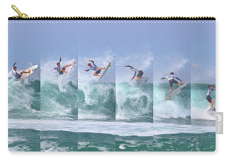 Surf Carry-all Pouch featuring the photograph Surfing Sequence by Brian Knott Photography
