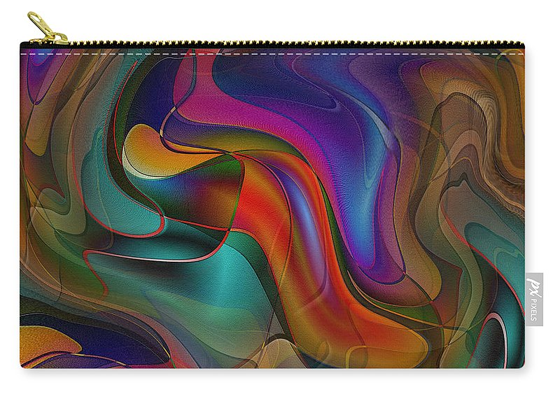 Abstract Art Carry-all Pouch featuring the digital art Sway With Me by Iris Gelbart