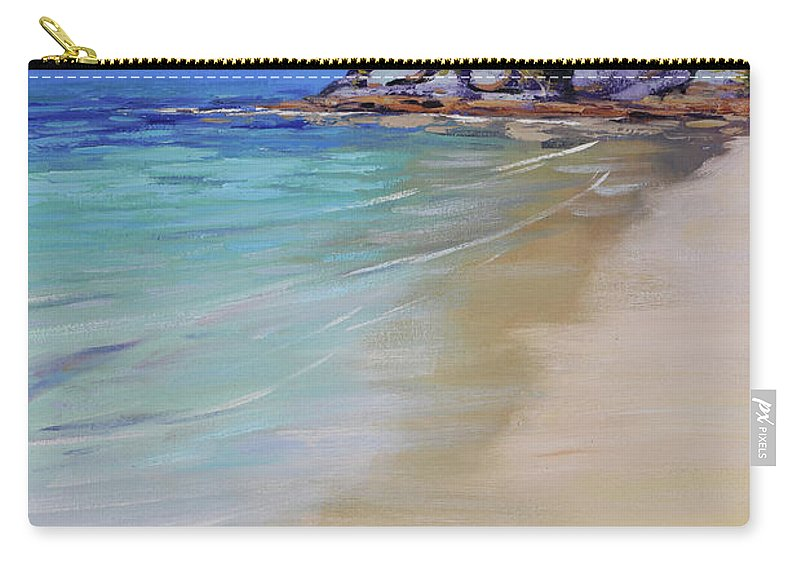 Nature Carry-all Pouch featuring the painting Sydney Harbour Beach by Graham Gercken