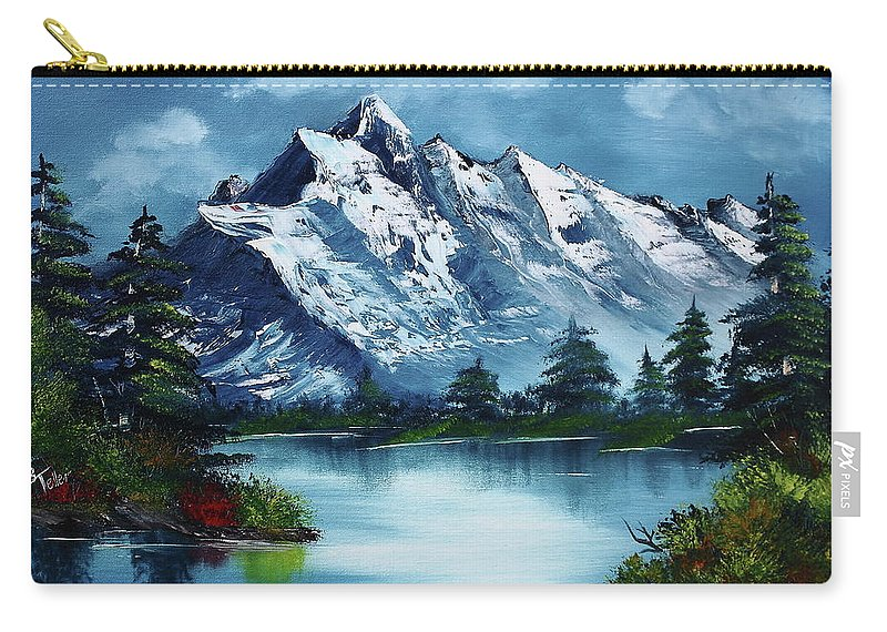 Carry-all Pouch featuring the painting Take A Breath by Barbara Teller