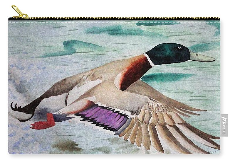 Drake Carry-all Pouch featuring the painting Takin Off by Jimmy Smith