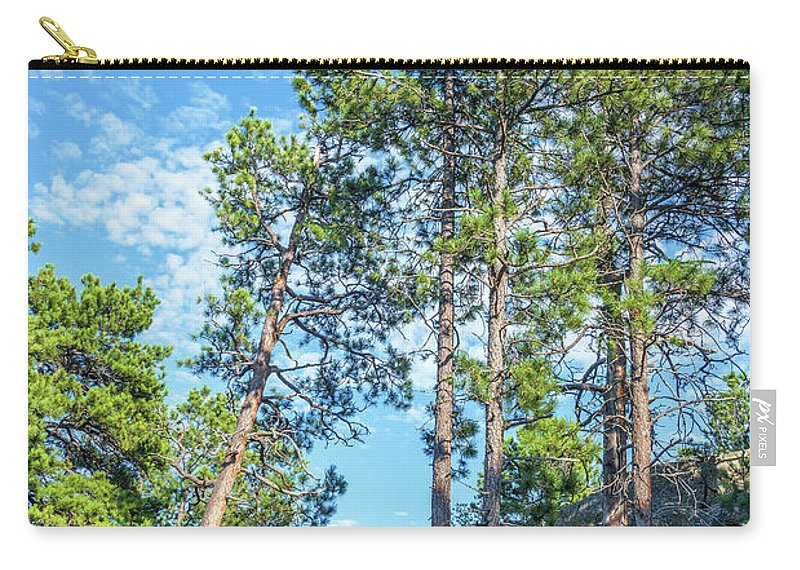 Custer State Park Carry-all Pouch featuring the photograph Tall Pine Trees by Jess Kraft