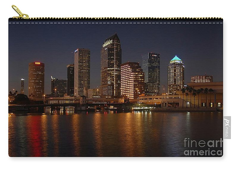Tampa Carry-all Pouch featuring the photograph Tampa Florida by David Lee Thompson