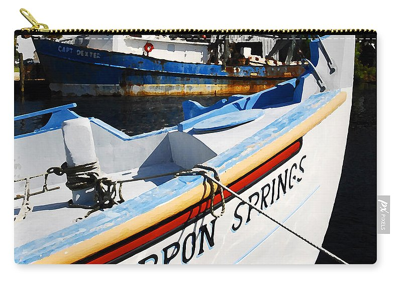 Tarpon Springs Florida Carry-all Pouch featuring the painting Tarpon Springs by David Lee Thompson
