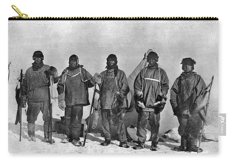 1912 Carry-all Pouch featuring the painting Terra Nova Expedition by Granger