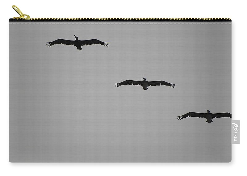 Black And White Carry-all Pouch featuring the photograph The Birds by Rob Hans