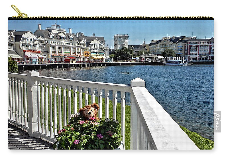 Boardwalk Carry-all Pouch featuring the photograph The Boardwalk At Walt Disney World MP by Thomas Woolworth