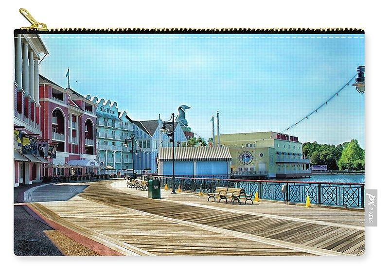 Boardwalk Carry-all Pouch featuring the photograph The Boardwalk Sidewalk Walt Disney World MP by Thomas Woolworth